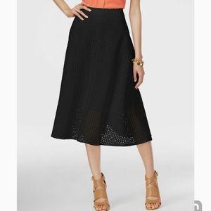 ALFANI black A-Line Eyelet Skirt NWT SMALL